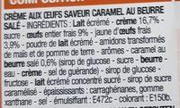Crème Aux Oeufs Saveur Caramel Beurre Salé - Ingrédients - fr