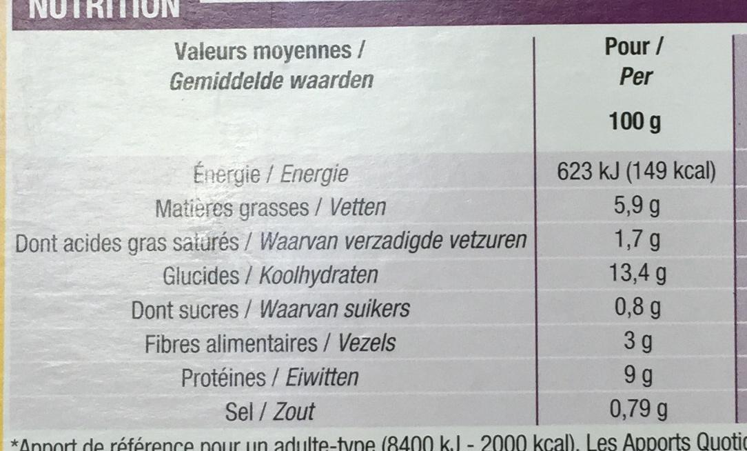 Paëlla Poulet, Chorizo, Fruits de mer, à l'huile d'olive vierge extra 1,4% - Informations nutritionnelles - fr