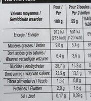 Crème Glacée, Aux 3 Chocolats - Nutrition facts