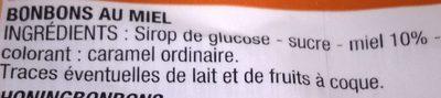Bonbons au miel - Ingrédients - fr