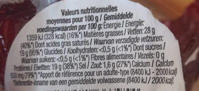 P'tit Rond - Nutrition facts - fr
