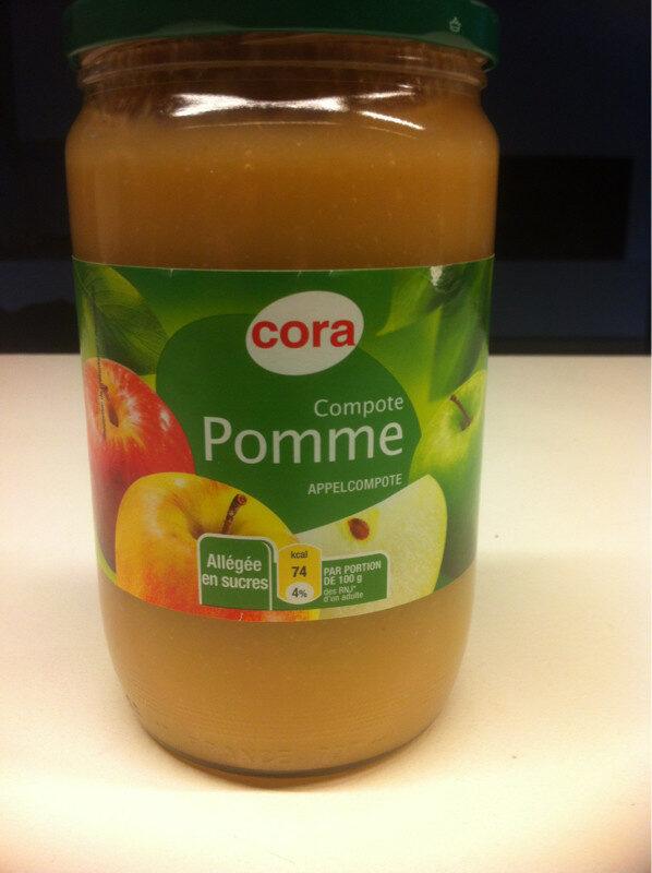 Compote Pomme Cora Allegee En Sucres - Produit - fr
