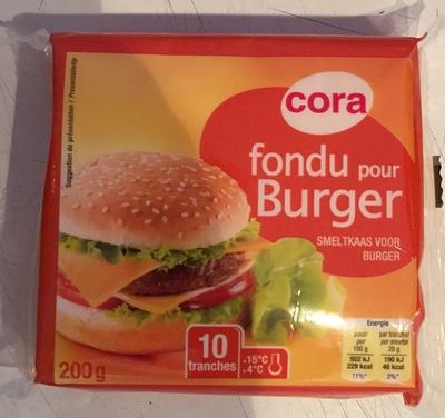 Fondu pour Burger (10 tranches) - (17 % MG) - Product - fr