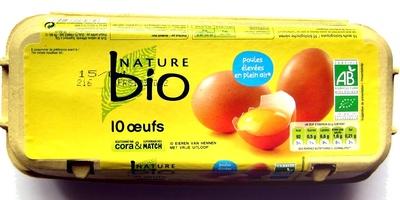 10 Œufs de Poules Élevées en Plein Ar Bio - Product