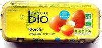 10 œufs de poules élevées en plein air Bio - Product - fr