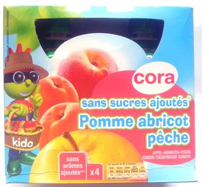 Sans sucres ajoutés, Pomme abricot pêche (x 4) - Produit