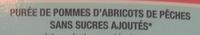 Sans sucres ajoutés, Pomme abricot pêche (x 4) - Ingredients - fr