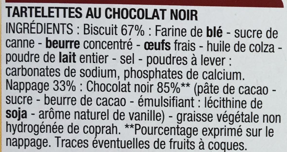 Tartelettes Chocolat Noir - Ingrédients - fr