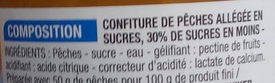 Confiture allégée Pêche - Ingrédients - fr