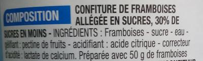 Confiture allégée Framboise - Ingrédients - fr