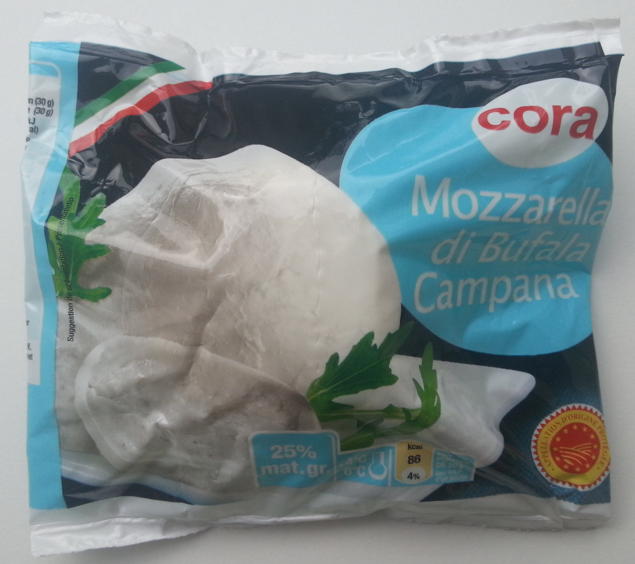 Mozzarella di Bufala Campana AOP (25% MG) - 210 g - Cora - Produit - fr