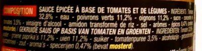 Sauce salsa medium - Ingrédients - fr