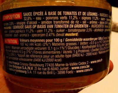 Sauce salsa medium - Informations nutritionnelles - fr