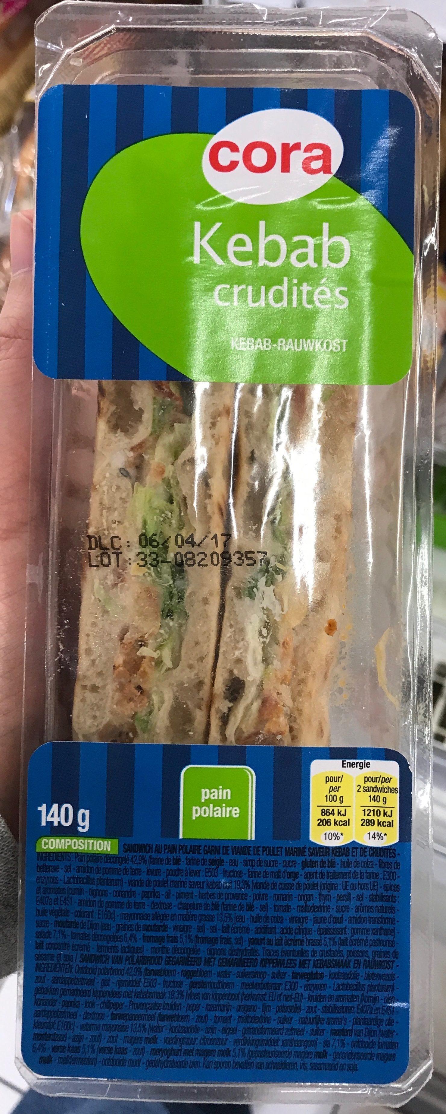 Kebab Crudités - Product - fr