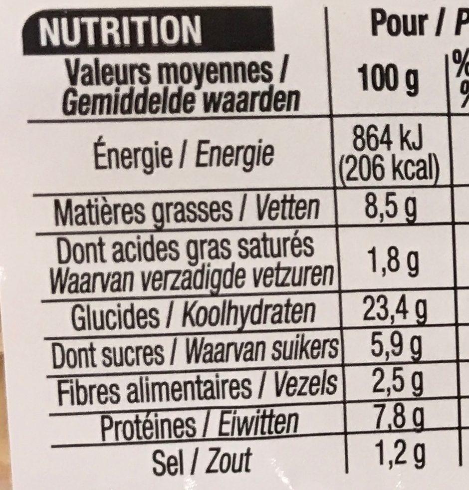 Kebab Crudités - Voedingswaarden - fr