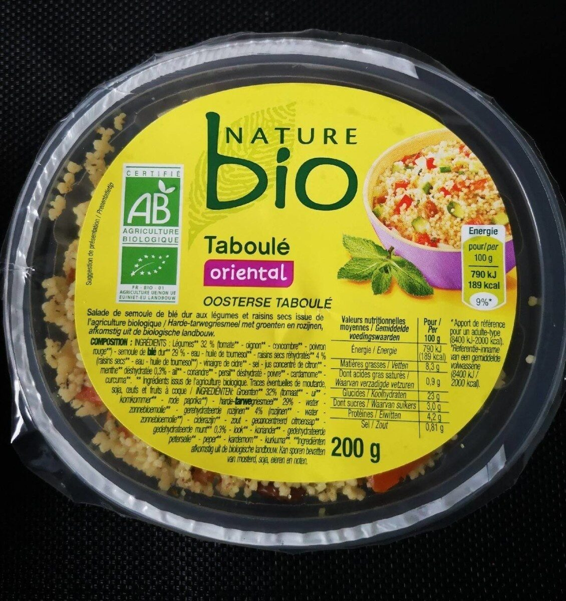 Taboulé oriental bio - Prodotto - fr