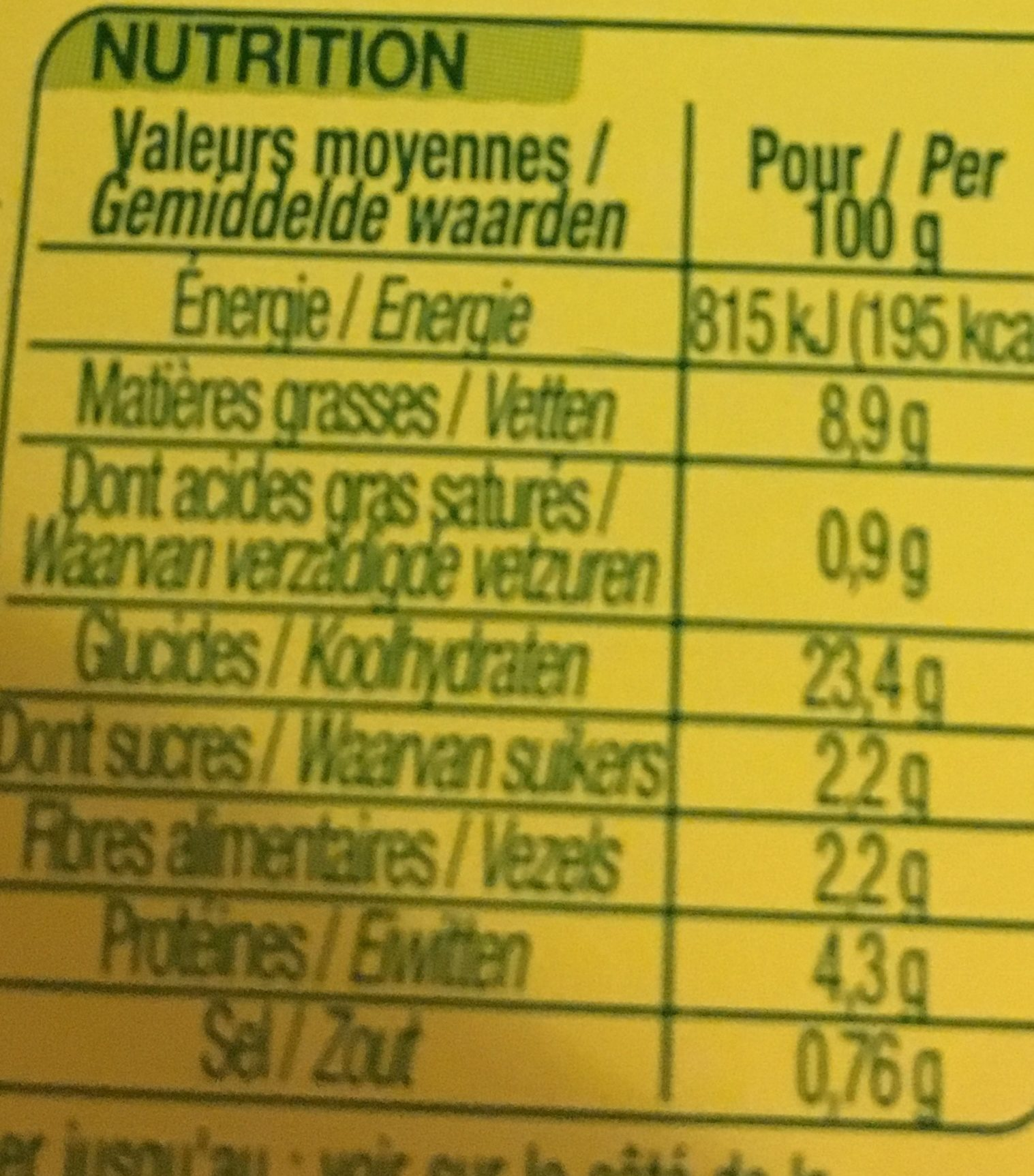 Taboulé oriental bio - Ingredienti - fr