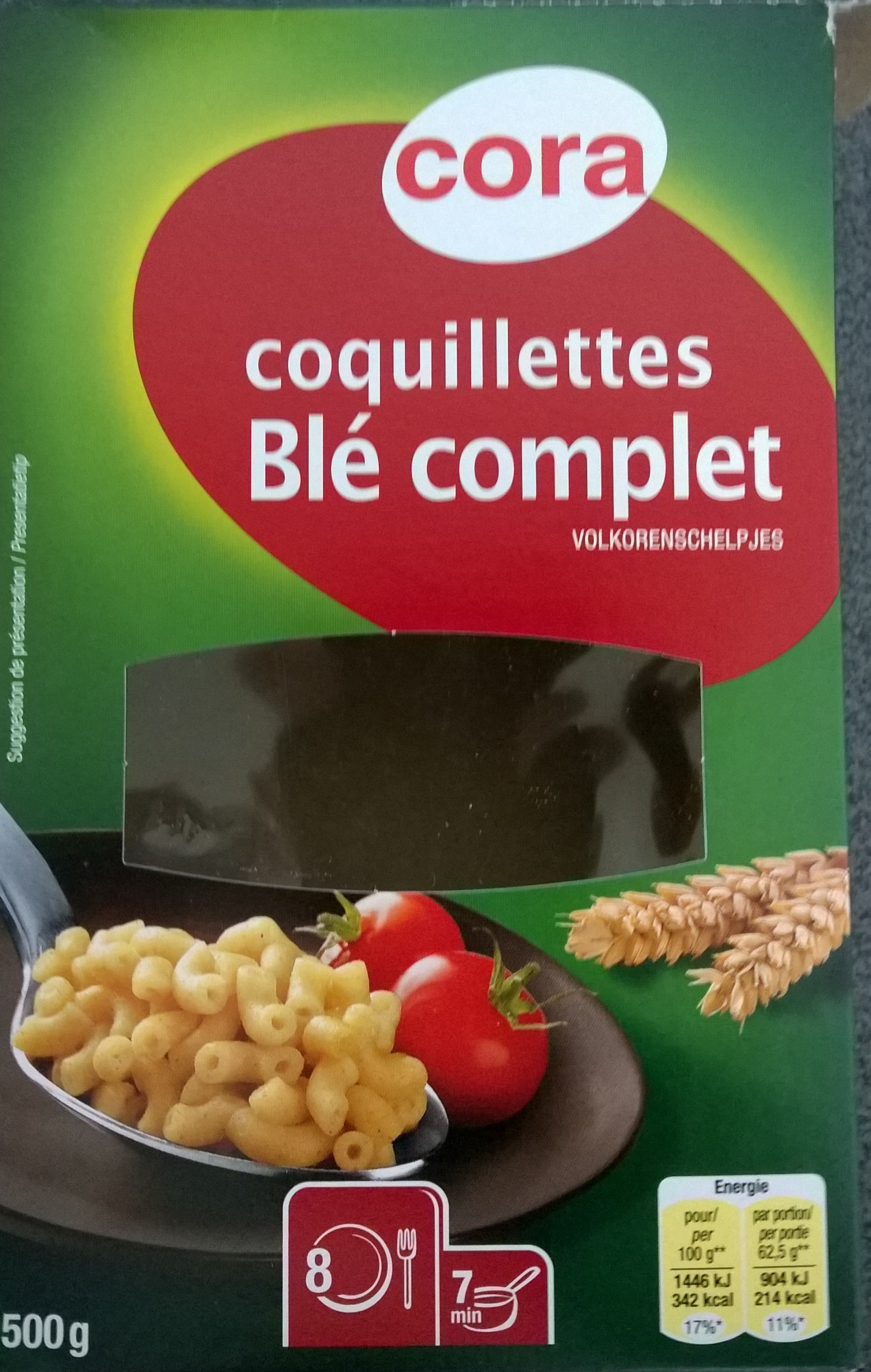 coquillettes bl 233 complet cora 500 g