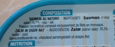 Saumon au naturel - Ingredientes