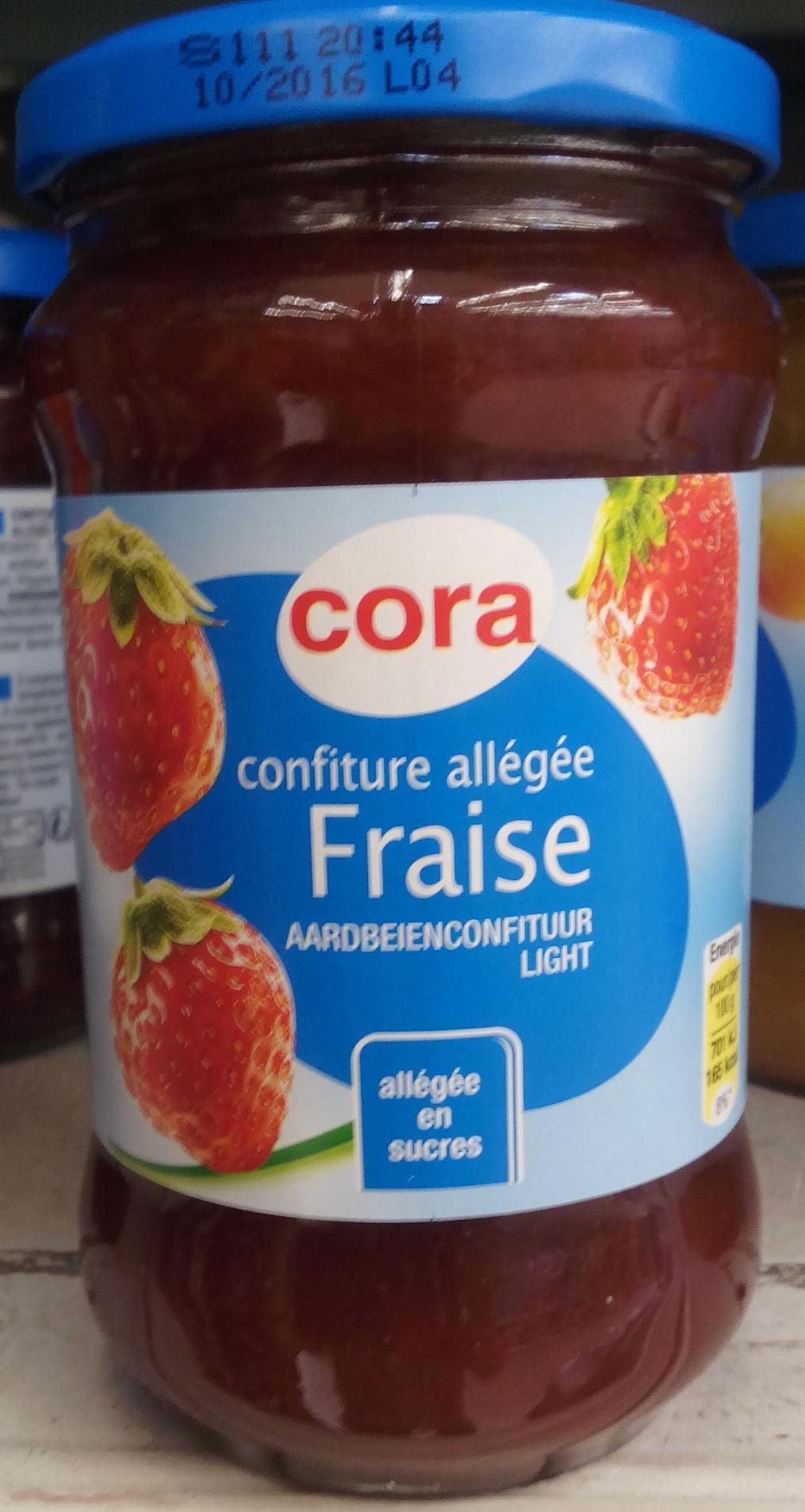 confiture de fraise allegee