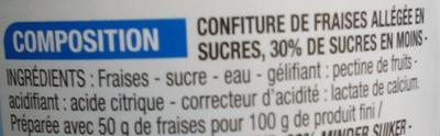 Confiture allégée Fraise - Ingrédients - fr