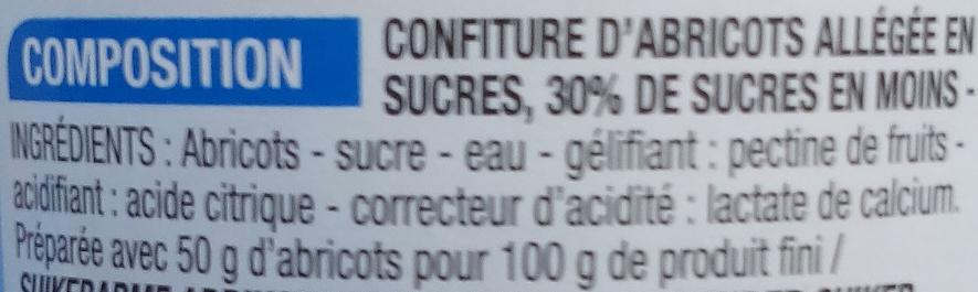 Confiture allégée Abricot - Ingrédients - fr