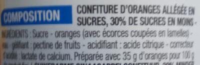 Confiture allégée Orange - Ingrediënten