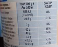 Confiture allégée Orange - Voedingswaarden
