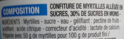Confiture allégée Myrtille - Ingredienti - fr