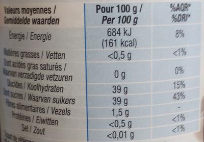 Confiture allégée Myrtille - Valori nutrizionali - fr