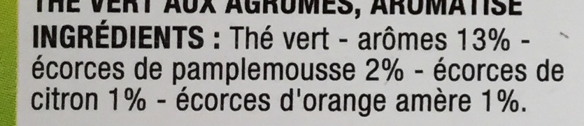 The vert Agrumes - Ingredients