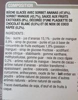 Bûche glacée fruits exotiques - Ingredients