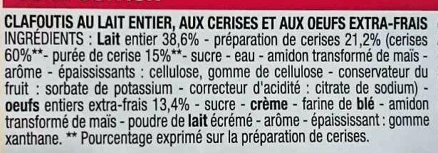 Clafoutis aux cerises - Ingrédients - fr