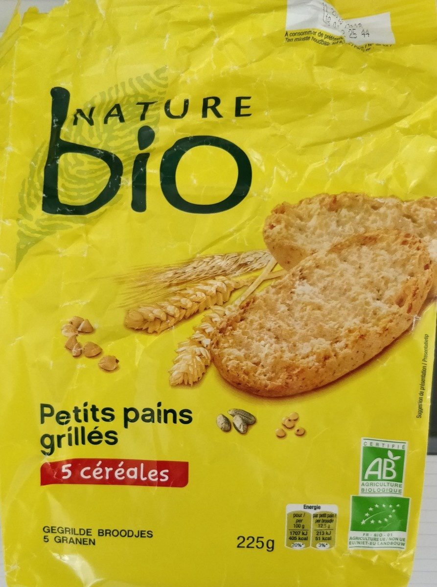 Nature bio petits pains grillés - Ingrédients