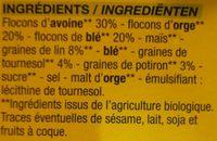 Muesli aux graines - Ingrediënten - fr