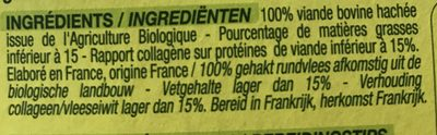 Steacks Hachés Bio - Ingrédients - fr