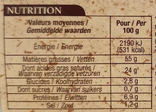 Foie gras de canard entier du Sud-Ouest cuit au torchon - Voedingswaarden - fr