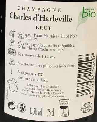 Champagne brut Bio - Ingrédients - fr