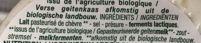 Petit chèvre frais - Ingrediënten