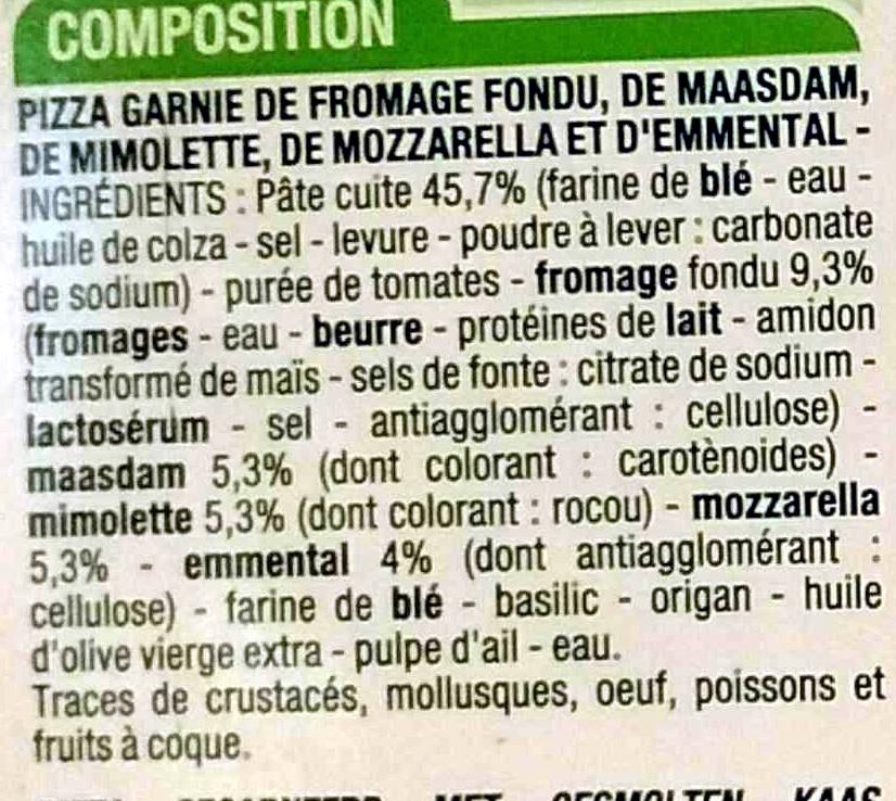 4 fromages cora 180 g - Quantite de fromage par personne ...