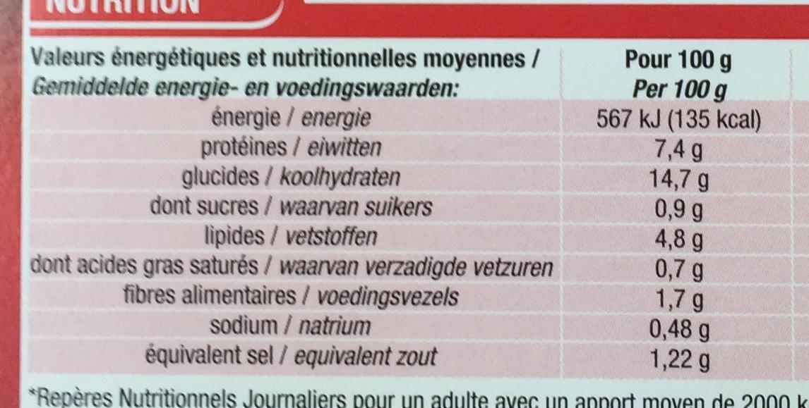 Nouilles à la chinoise Poulet Champignons noirs - Informations nutritionnelles - fr