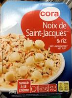 Noix de Saint-Jacques** & riz (sauce à la crème) - Produit - fr