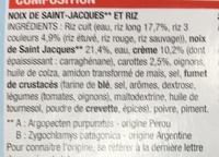 Noix de Saint-Jacques** & riz (sauce à la crème) - Ingrédients - fr