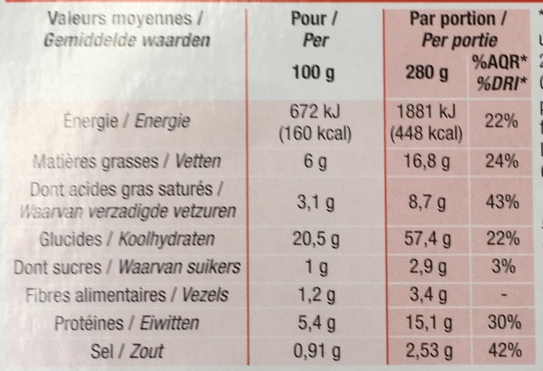 Noix de Saint-Jacques** & riz (sauce à la crème) - Informations nutritionnelles - fr