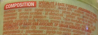 Guacamole - Ingrédients