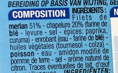 2 panés au merlan - Ingrédients - fr