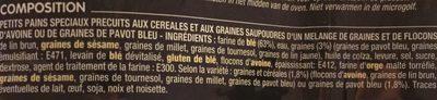 Petits pains précuits graines de pavot & céréales - Ingredients