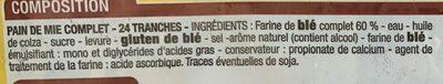 Pain de Mie Moelleux Complet - Ingrédients - fr