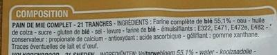 Spécial sandwich complet (maxi format) - Ingredienti - fr