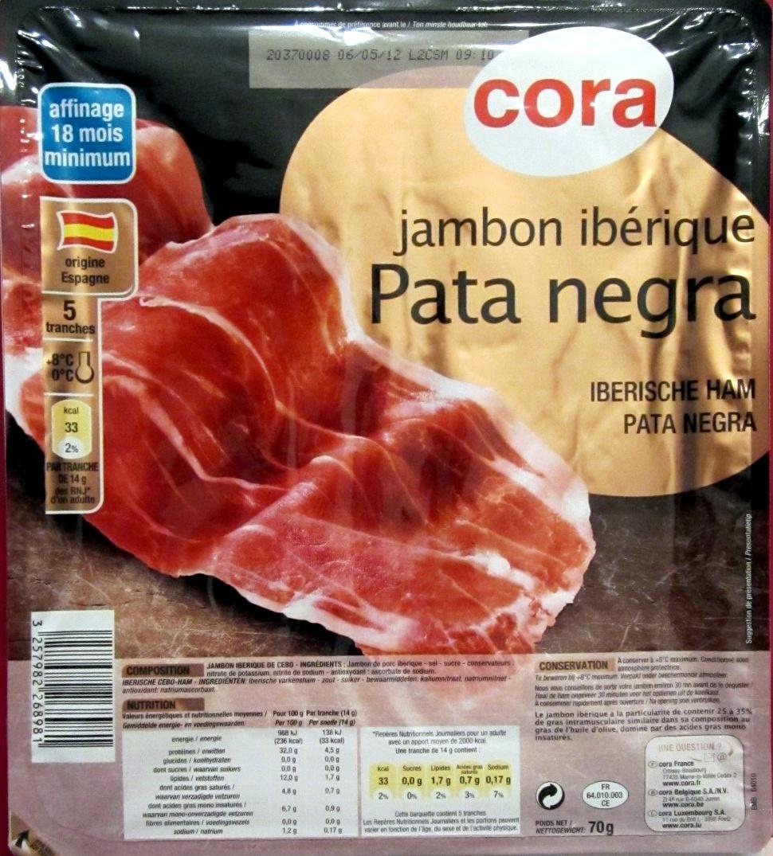 Jambon ibérique Pata negra - Product - fr